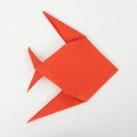 Einen tropischen Origami Fisch falten - Anleitung für Anfänger - Origami Tiere falten
