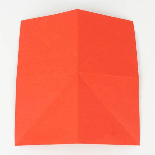 PTropischer Origami Fisch - Papier 2-fach diagonal, und 2-fach in der Hälfte gefaltet
