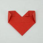 Die inneren Kanten umknicken - Herz falten