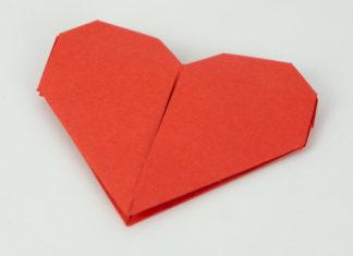 Herz basteln Anleitung - Basteln Herz - Titelbild