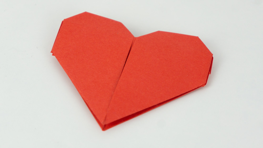 Herz basteln Anleitung - Schritt 1