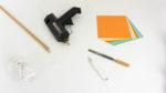 Materialien zum Basteln eines Mobiles mit Kindern