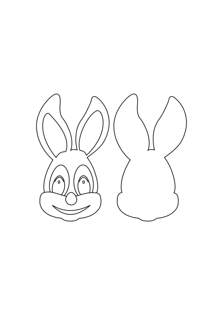 Einen Osterhasen basteln - Basteln mit Kindern Ostern - Kostenlose Vorlage zum Audrucken