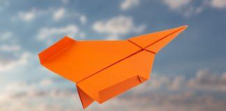 Einen Papierflieger Düsenjet falten - Anleitung