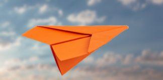 Papierflugzeug falten - Drachenflieger falten - Hängegleiter basteln - Papierflieger Anleitung
