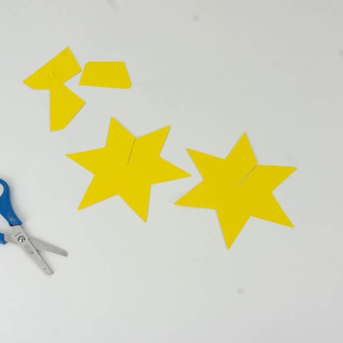 Die Sterne ausschneiden