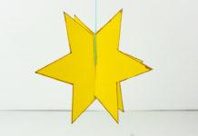 Sterne basteln mit Kindern inklusiver kostenloser Vorlage zum Ausdrucken - Stern basteln zu Weihnachten