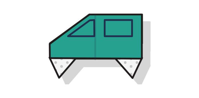 Origami Auto falten - Thumbnail