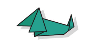 Origami Dachshund falten - Thumbnail