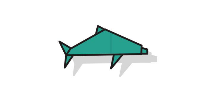 Origami Delfin falten - Thumbnail