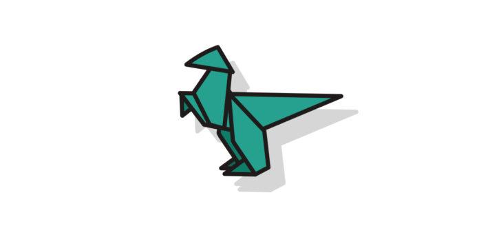 Origami Dinosaurier falten - Thumbnail