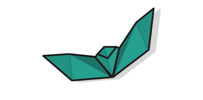 Origami Fledermaus falten - Thumbnail