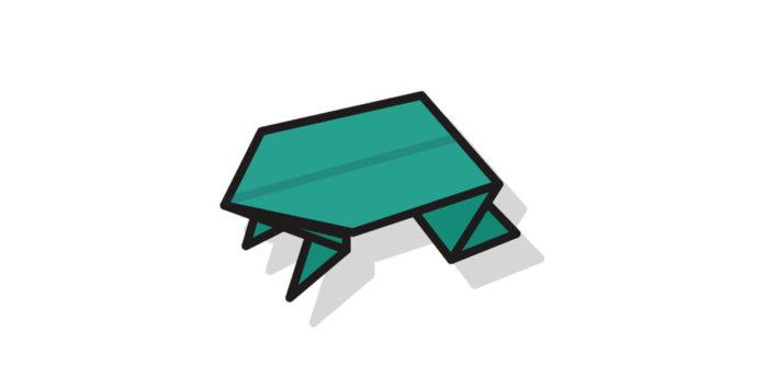 Origami Frosch falten - Thumbnail
