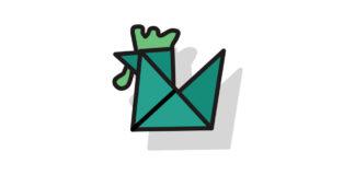 Origami Hahn falten - Thumbnail