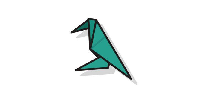 Origami Krähe falten - Thumbnail