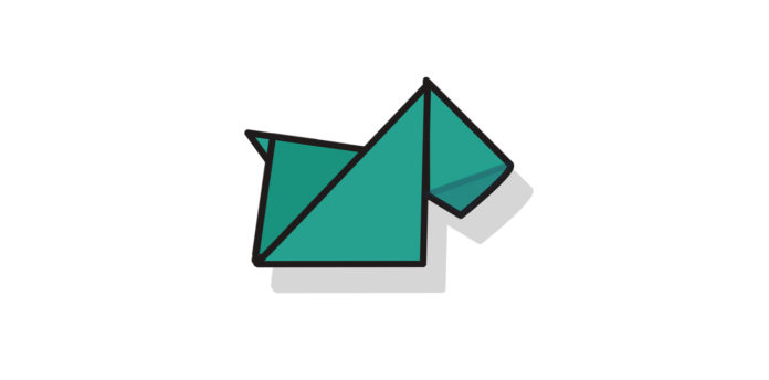 Origami Terrier falten - Thumbnail