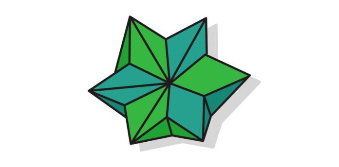 Großer Origami Stern falten - Thumbnail
