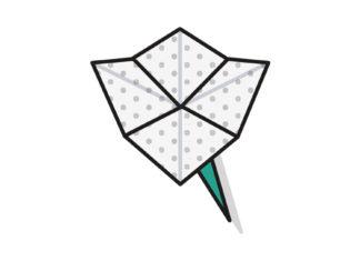 Origami Blüte falten - Thumbnail