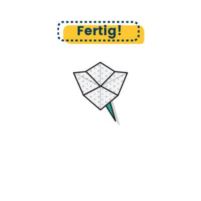 Origami Blume falten fertig