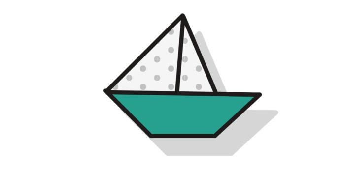 Origami Boot falten - Thumbnail