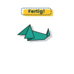 Origami Dachshund fertig