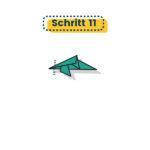 Origami Delfin falten 11