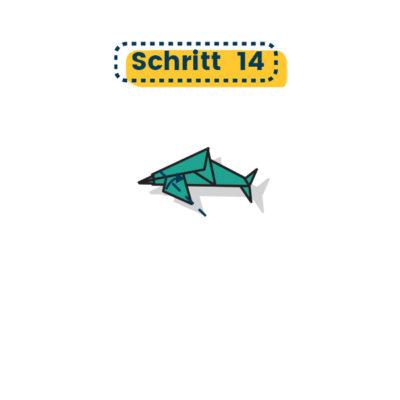Origami Delfin falten 14