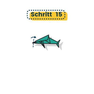 Origami Delfin falten 15