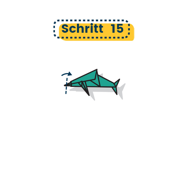 Origami Delfin falten 12