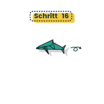 Origami Delfin falten 16
