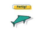 Origami Delfin falten fertig