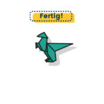 Origami Dinosaurier falten fertig