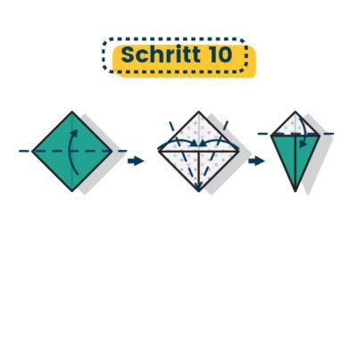Origami Drachenkopf falten 10