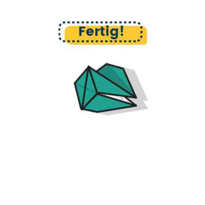Origami Drachenkopf falten fertig
