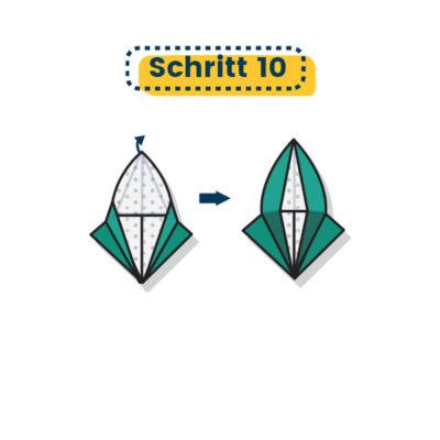 Origami Eule falten 10