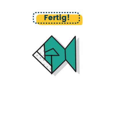 Origami Fisch falten fertig