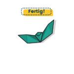 Origami Fledermaus - fertig