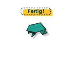 Origami Frosch falten einfach fertig