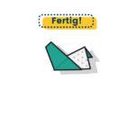 Origami Henne falten fertig