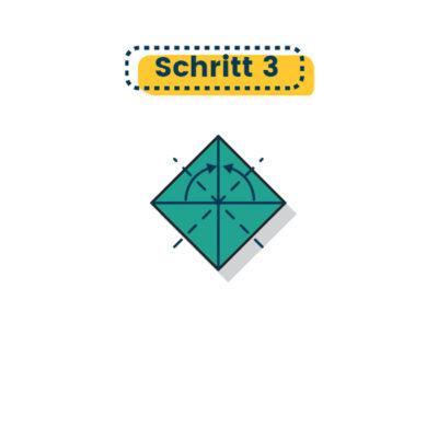 Origami Huhn falten 03