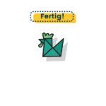 Origami Huhn falten fertig
