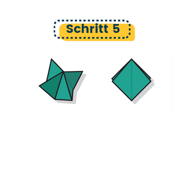 Origami Krähe falten 02
