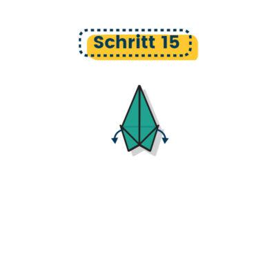 Origami Krähe falten 15