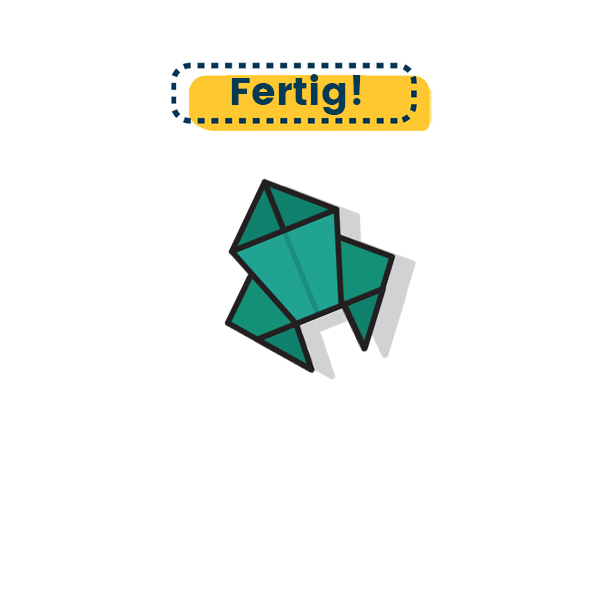 Origami Krabbe falten - Fertig
