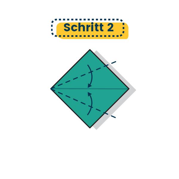 Origami Kranich falten 01