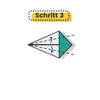 Origami Kranich falten 03