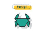 Origami Krebs falten fertig