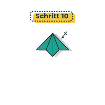 Origami Lilie falten 10