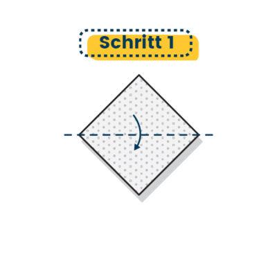 Origami Marienkäfer falten 01