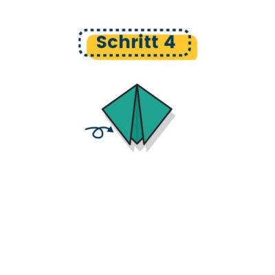Origami Marienkäfer falten 04